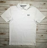 Mens Under Armour Performance Polo Golf Shirt White Grey S M 2XL 1242755 DEFECTS