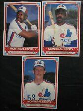 1985 OPC Montreal Expos Insert Posters -3, Raines, Dawson, Lea