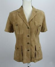 NWT Polo Ralph Lauren Women's Jacket M Brown Suede Leather S/S USA  MSRP $995