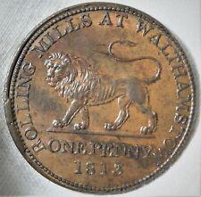 1813 Great Britain Landor British Copper One Penny Token High Grade W-586 D-14