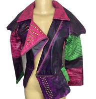 Disney Store Descendants Faux Leather Jacket Cosplay Costume Purple Girls Sz 13