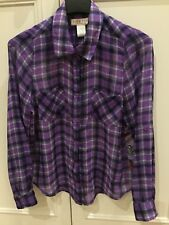 Beautiful Zoe & Rose Purple Fine Check & Paisley Girls Blouse Age 14 years