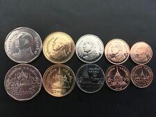 5 Pièces monnaies THAILANDE coins THAILAND 5, 2, 1 BATH 25, 50 S NEW NEUVE UNC