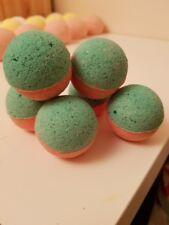 3 handmade watermelon bath fizzies