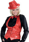 chaleco de lentejuelas rojo para Mujer nuevo - mujer Carnaval Traje De Disfraz