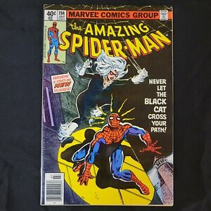 AMAZING SPIDER-MAN 194 -HIGH GRADE - FIRST APP OF BLACK CAT! KEY ISSUE