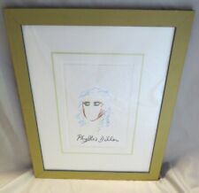 """Phyllis Diller painting """"Self Portrait"""" Signed Professionally Archival Framed"""