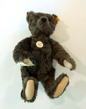"STEIFF 1920 CLASSIC BROWN MOHAIR 16"" TEDDY BEAR #000850, c. 1993-2000 with TAGS"