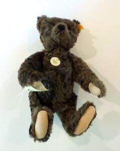 "STEIFF 1920 Classic Replica 16"" Brown Mohair Teddy Bear #000850 with Tags"