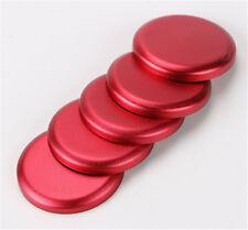 5xRed Door Handle Exterior Push Button Cover Trim For 07-17 Jeep Wrangler JK 4Dr