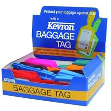 KEVRON  ID4 Box Of 30 MIXED Luggage Tags With Write On Labels-FREE POST -KID4