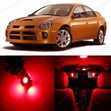 8 x Super Red LED Interior Light Package Kit For Dodge Neon 2000 - 2005