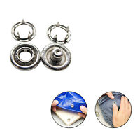 10mm Nickle Free Press Studs Snap Fasteners Popper Leather Art Craft Prong Ring