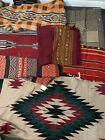 Vintage Estate Lot Southwestern Native Style Geometric Blankets & Rugs Textiles