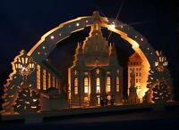 3D Schwibbogen excl. 72cm Frauenkirche Dresden Erzgebirge Lichterbogen Holz Neu