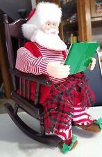 Christmas: STORY TELLING SANTA~Animated, Rocking, Reading!     LAST ONE!     NEW