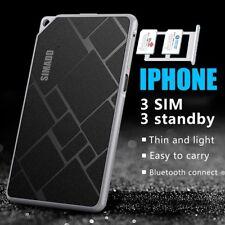 3 SIM STANDBY (Double SIM, Triple SIM) ultra mince cadre en métal adaptateur pour iPhone