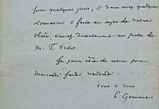 Très longue correspondance de l'historien Henri Gomont.