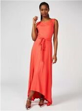 Phase Eight Hi Low Hem Wisteria Maxi Dress Coral New Size 16 Rrp £79
