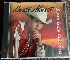JORGE LUIS CABRERA CARTA ABIERTA BALLADS CORRIDOS SUPERNATURAL MEXICAN SEALED CD