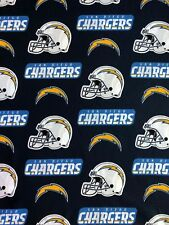 """Team Logo Fabric~Remnant San Diego Chargers 100/% Cotton Fabric 58/"""""""