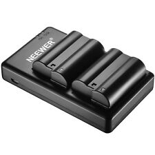 Neewer 2pcs 2100mAh Li-ion Battery & USB Input Dual Charger for Nikon EN-EL15