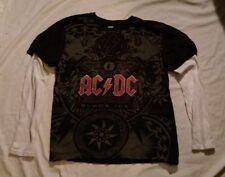 Rockware Black & White AC/DC BLACK ICE LONG SLEEVE T-SHIRT Men's Large