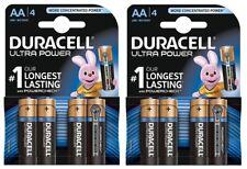 8 x AA DURACELL ULTRA POWER ALKALINE LR6 MX1500 BATTERY 5000394099692 FREEPOST