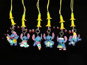 Yujin Disney Lilo & Stitch Banana strap gashapon figure (full set of 6 figures)