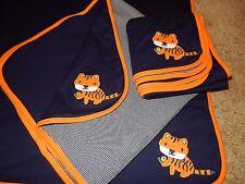 NWT GYMBOREE Little Roar Tiger Jersey Knit Reversible Baby Receiving Blanket