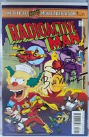 ☢️⚡ RADIOACTIVE MAN #8 SIGNED REMARKED SKETCH BILL MORRISON Simpsons the movie