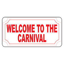 Welcome To The Carnival Retro Vintage Style Metal Sign - 8 In X 12 In