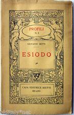 1941 Giovanni Setti - ESIODO - Profili Casa Editrice Bietti - n°4