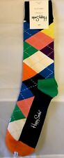 Happy Socks 1 pair mens size 10-13 argyle w/ bright colors - NWT Fun!
