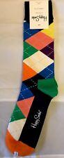 Happy Socks 1 pair mens size 10-13 argyle w/ bright colors - NWT Fun!