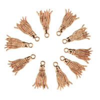 10Pcs Golden Tassel Shape Charms Pendants For Bracelet DIY Jewelry Crafts