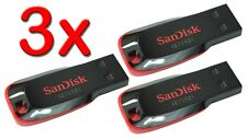 LOT 3 x SanDisk 32GB Cruzer BLADE USB Flash Pen Drive 32 GB SDCZ50-032G 32G 3x