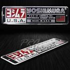 "Metal 5.5""3D Brushed Aluminum Emblem Decal YOSHIMURA Logo+Letter Fairing Sticker"