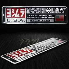 "Metal 5.5""3D Brushed Aluminum Emblem Decal YOSHIMURA Logo+Letter Fairing Sticker"