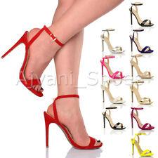Sandali e scarpe cinturini alla caviglia slim per il mare da donna tacco altissimo ( oltre 11 cm )