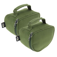 2 x Large Deluxe Green Padded Reel Bag Cases For Carp Pike Sea Fishing NGT