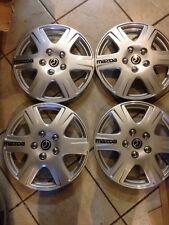 "4-2004 2005 2006 2007 2008 2009 Mazda 3 Protege Mpv HUB CAP WHEEL COVER 15"""