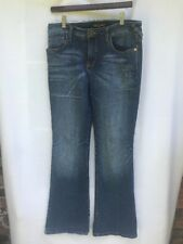 Baby Phat Jeans Size 11 dark wash blue jeans design back pockets boot cut
