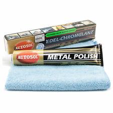Edel Chromglanz Metallpolitur Autosol 01 001000 75 ml Tube inkl. Mikrofasertuch