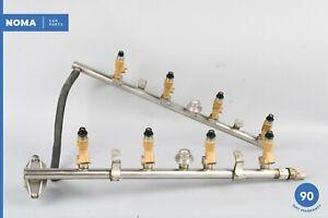 06-09 Jaguar XJ8 Vanden Plas X358 4.2L AJ33 Fuel Rail Assembly w/ Injector OEM