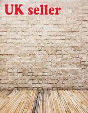 Grigio Bianco Mattone Carta Da Parati Sfondo Sfondo in vinile foto di scena 5X7FT 150x220CM