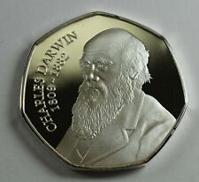 CHARLES DARWIN .999 Silver Commemorative Coin Albums/50p Collectors. Evolution