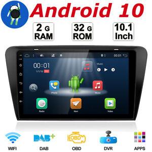 10'1IPS Android 10.0 Car GPS Autoradio Head unit for Skoda Octavia 2014-2017 32G