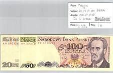 BILLET POLOGNE - 20-50-100 ZLOTYCH - 1982 ET 1988