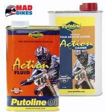 PUTOLINE ACTION FLUID & ACTION CLEANER AIR FILTER OIL & CLEANER, MOTOCROSS, QUAD